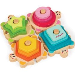 Janod I Wood Stackable Turtles