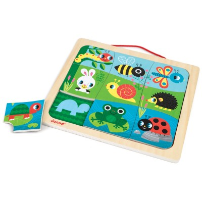 Janod Happy Garden Magnetic Puzzle