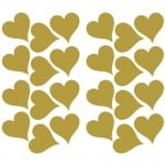 RoomMates Gold Foil Hearts Peel and Stick Wall Decals - RMK3074SCS