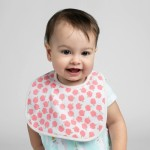 Cotton Pigs Organic Reversible Bib - Unicorns & Apples