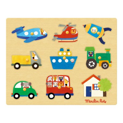 Moulin Roty Les Popipop Transports Puzzle 28x22cm