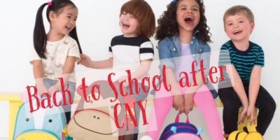 Getting Kids Back in to the Swing of School After CNY!