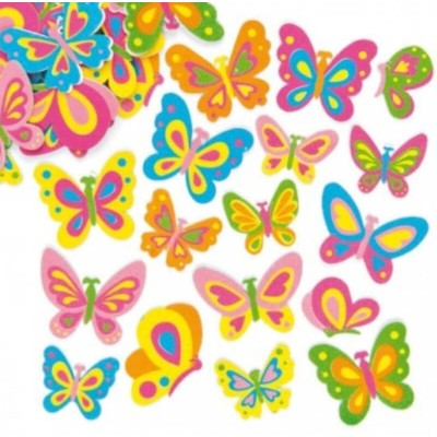 Baker Ross Butterfly Foam Stickers (Pack of 102)