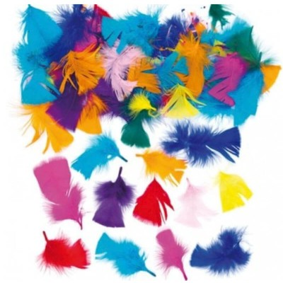 Baker Ross Collage Feathers (Pack of 130)
