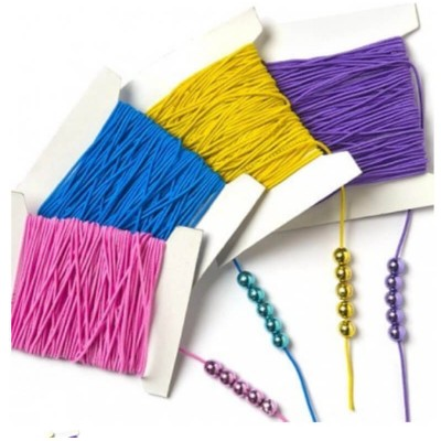 Baker Ross Coloured Stretchy Cord (Per Pack)