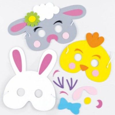 Baker Ross Easter Foam Mask Kits (Pack of 3)