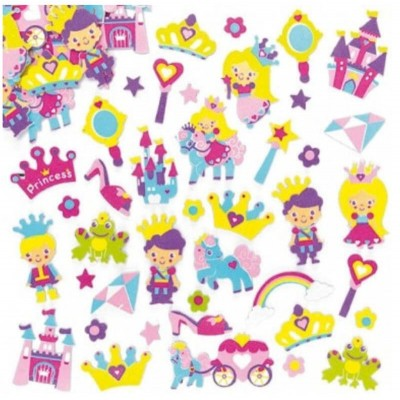 Baker Ross Snow Princess Foam Stickers (Pack of 120)