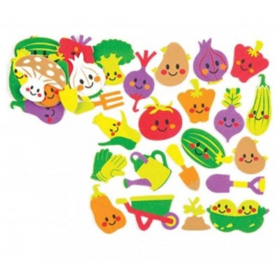 Baker Ross Vegetable Garden Foam Stickers (Pack of 120)