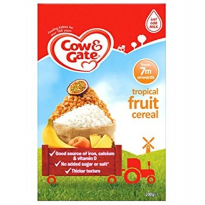 Cow & Gate Tropical Fruit Cereal from 7m Onwards 200g