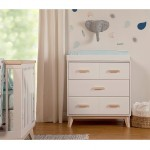 Babyletto Scoot 3-Drawer Changer Dresser - White / Washed Natural
