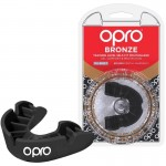 OPRO Bronze Self-Fit Mouthguard (10 years to Adult) - Black