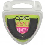 OPRO Snap-Fit ADULT Mouthguard (11 years to Adult) - Black