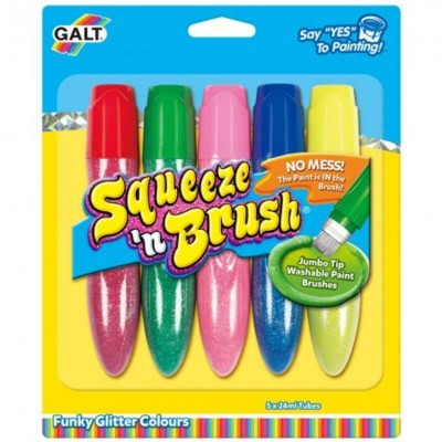 Galt Toys Squeeze n Brush - 5 Glitter Colours