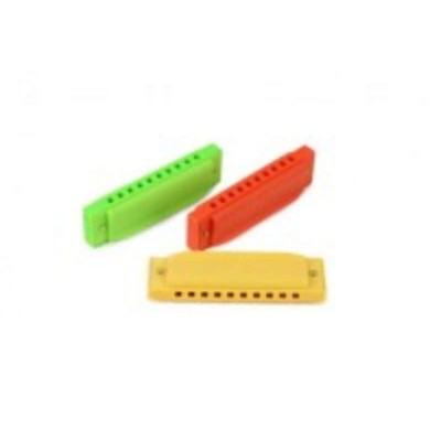 Halilit Plastic Harmonica (color may vary: Yellow/Green/Orange)
