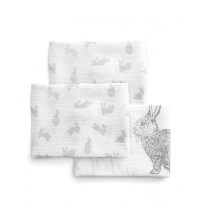 Mamas and Papas Mamas & Papas Large Muslin Squares (Pack of 3) - Welcome to the World - 90 x 90cm