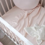 Mulberry Threads 100% Organic Bamboo Cot Sheets (Fitted 132 x 70cm) - Blush