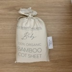 Mulberry Threads 100% Organic Bamboo Cot Sheets (Fitted 132 x 70cm) - Oat