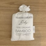 Mulberry Threads 100% Organic Bamboo Cot Sheets (Fitted 132 x 70cm) - White