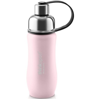 Think 12oz(350ml) insulated Sports Bottle - Coated Pink