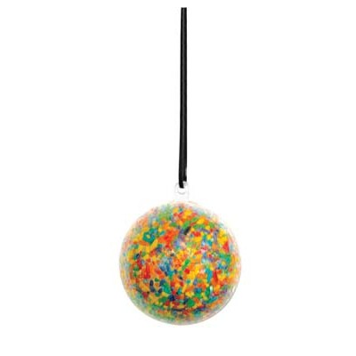 Colorations Clear Ball Ornaments - Set of 12