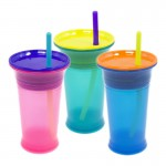 Sassy Baby 9oz Silicone Straw Cup (9+ months) - Pink