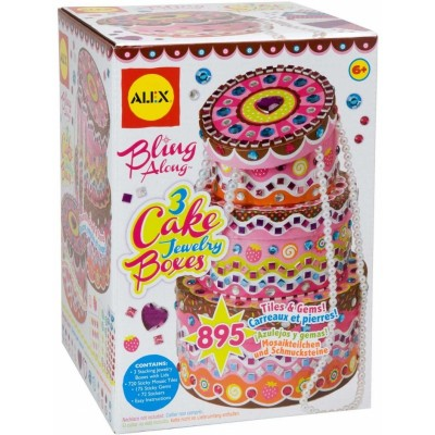 ALEX Craft Bling Along 3 Cake Jewelry Boxes