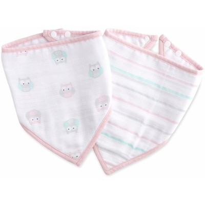 Aden - Ideal Baby Bandana Bibs 2 Pack - Owls