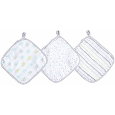 Aden - Ideal Baby Washcloths 3 Pack - Dreamy