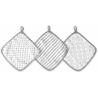 Aden - Ideal Baby Washcloths 3 Pack - Pint Size