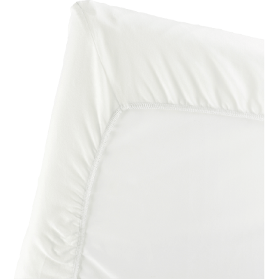 BabyBjorn Fitted Sheet for Travel Crib Light - Natural White, Organic