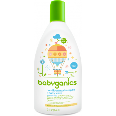 Baby Ganics Conditioning Shampoo & BodyWash 354ml - Frag Free