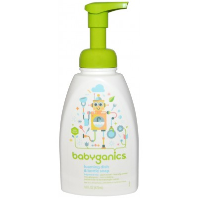 Baby Ganics Dish & Bottle Soap Fragrance Free - 473ml