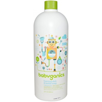 Baby Ganics Dish & Bottle Soap Fragrance Free - 946ml Refill