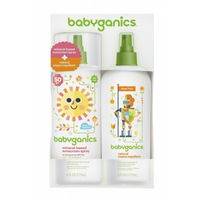 Baby Ganics Insect Repellent + Sunscreen Mini Combo 2oz