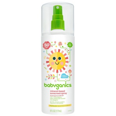 Baby Ganics SPF-50 Baby Sunscreen Spray 6oz (177ml)