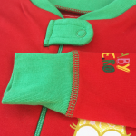 Baby Hero Holiday Owl Footie - Red 100% Organic Cotton 0-3m / 3-6m