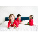 Baby Hero Holiday Owl Footie - Red 100% Organic Cotton 6-12m / 1-2y