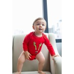 Baby Hero Holiday Reindeer Onesie, Long-Sleeve 100% Organic Cotton 0-3m / 3-6m / 6-12m