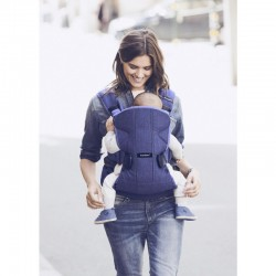 Babybjorn Baby Carrier One Cotton - Denim Blue/Blue