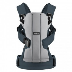 Babybjorn Baby Carrier We Cotton - Silver/D..