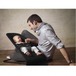 Babybjorn Bouncer Balance Soft Cotton - Black/Dark Grey