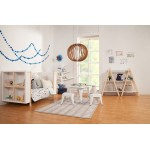 Babyletto Dottie Bookcase - White / Washed Natural