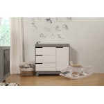 Babyletto Hudson 3-Drawer Changer Dresser - Grey / White