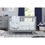 Babyletto Hudson 3-in-1 Convertible Crib - Grey / White