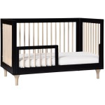 Babyletto Lolly 3-In-1 Convertible Crib - Black / Washed Natural