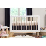 Babyletto Lolly 3-In-1 Convertible Crib - White / Natural