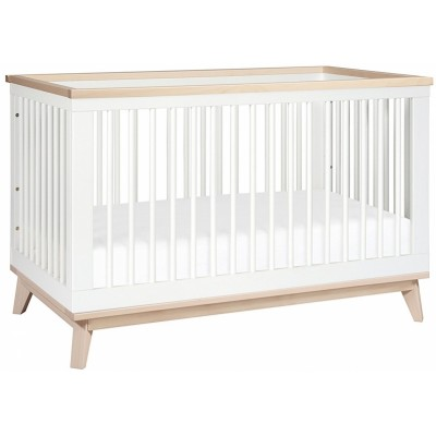 Babyletto Scoot 3-in-1 Convertible Crib - White / Washed Natural