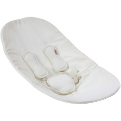 Bloom Coco Seat Pad with Harnesses In Gift Box - Coconut White (100% Organic Cotton)