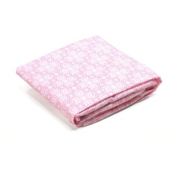 Bloom Luxo Sleep Baby Bed Fitted Sheet (135cm x 70cm) 2pc set - Lollipop Rosy Pink