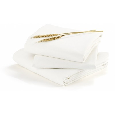 bloom Alma Max UK Size Fitted Sheet (140cm x 70cm) 2pc set - Coconut White 100% Organic Cotton
